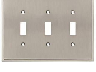 Brainerd Simple Steps 3 Gang Satin Nickel Triple Decorator Standard Wall Plate