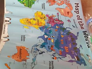 Motivation Without Borders World Map laminated Poster