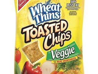 Nabiscoi1 2 Wheat Thins Toasted Chips  Veggie Flavor  1 7 Oz  Box Of 60
