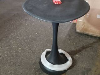 BlACK METAl SMAll ROUND TABlE BASE