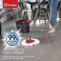 O Cedar Easywring Microfiber Spin Mop   Bucket Floor Cleaning System with 1 Extra Refill