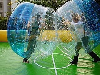 HI SUYI Human Bumper Bubble Soccer Ball Diam 6ft 5ft 4ft Inflatable Sumo Suit Giant Blow Up Toys Made of Eco Friendly PVC for Adults Teens Outdoor Playgames One Pack