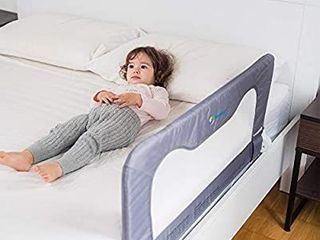 Toddler Bed Rail Guard for Kidsa Bed Safety Rail Guard for Toddlers Infants aBed Rails for Toddlers for Queen   King Bed Twin Bed Twin Mattress Twins Bed Queen King Mattress Grey 35 5l19 5H in
