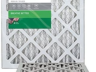 FilterBuy 14x14x1 MERV 8 Pleated AC Furnace Air Filter 2 Pack