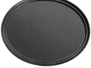 New Star Foodservice 25576 NSF Approved Plastic Non Slip Tray  24 Inch by 29 Inch  lARGE  Oval  Black