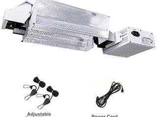 MElONFARM 1000W Double Ended CMH Grow light System Kits with 3 Mode Adjust 98  Reflection for Indoor Plants with Digital Dimmable Ballast 240V and 1 Pair Rope Hanger