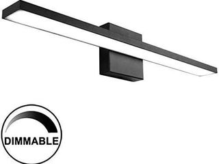 Ralbay 24 inch Dimmable Black lED Modern Vanity light 24W Frosted Aluminum for Bathroom Vanity lighting Fixtures Cool White 6000K