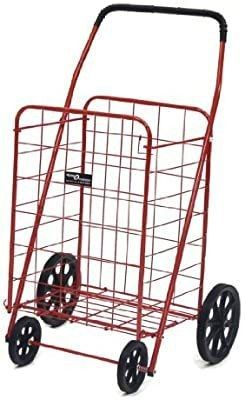 Easy Wheels Jumbo A Shopping Cart  Red