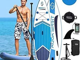 AQUA SPIRIT All Skill levels Premium Inflatable Stand Up Paddle Board for Adults   Youth   Beginner   Intermediate iSUP Touring   Racing Model   Adjustable Aluminum Paddle Carry Bag SUP Safety leash