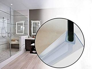 Butecare Premium Frameless Shower Door Bottom Seal Strip   Glass Door Seal Sweep  3 8a x 39a  Clear Vinyl