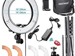 Neewer Rl 12 lED Ring light 14  outer 12 on Center