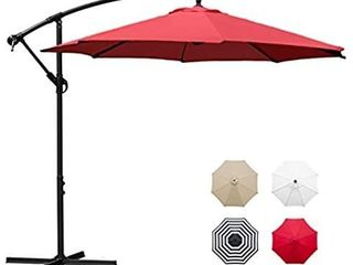Sunnyglade 10  Outdoor Adjustable Offset Cantilever Hanging Patio Umbrella