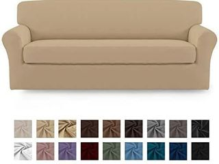 Easy Going 2 Pieces Microfiber Stretch Sofa Slipcover