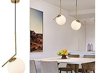 Hanging lights Pendant lighting with Modern and Classic Style Milky Glass light Fixture for Kitchen Island Dinning Room Bar and Cafe Shop  Small