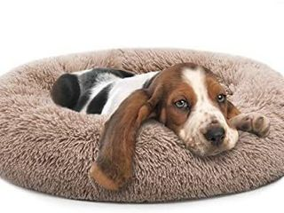 MIXJOY Orthopedic Dog Bed Comfortable Donut Cuddler Round Dog Bed Ultra Soft Washable Dog and Cat Cushion Bed  30  x 30   Brown