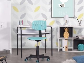 FurnitureR Multi Colors PlasticFit up Office Chair For Adult And Student  Iwc Turquoise   1PC
