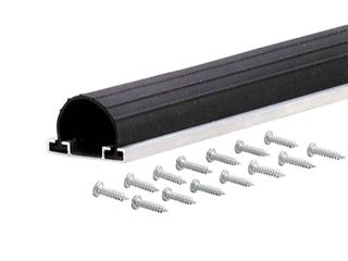 M D Products 87668 18  Black Universal Aluminum and Rubber Garage Door Bottom