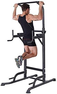 K KiNGKANG Power Tower Home Gym Adjustable Height Pull Up Bar Fitness Equipment