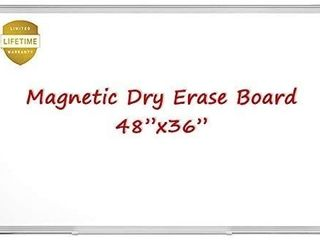 Magnetic Whiteboard White Board  48 X 36 Inches Magnetic Dry Erase Board