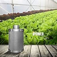 Power GlFIlT6M 6 Inch Air Carbon Filter Indoor Plants Grow Tent Odor Control Scrubber with Australia Activated C for Inline Fan  Reversible Flange  Prefilter Included  6