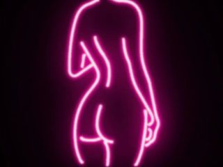 Naked ladya Neon Nights