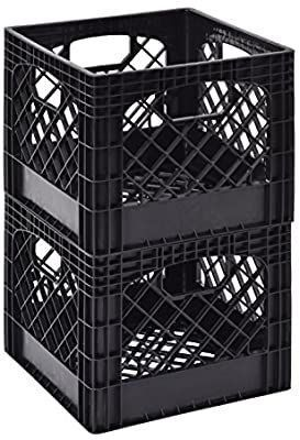 Black Milk Crate  Pack of 2