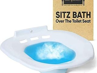 Sitz Bath Toilet SEAT   Perineal Soaking Bath for Postpartum Care  Hemorrhoid Treatment   Yoni Steam   Soothes and Cleanse Vagina Anal Inflammation  Fits Elongated  Commode  Oval  Oblong Toilets