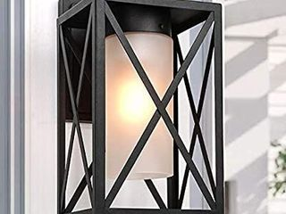 lAlUZ Exterior light Fixtures Wall Mount Outdoor Sconce with Frosted Glass