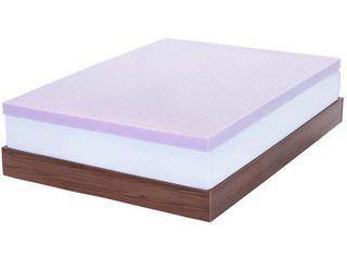 lucid 3  lavender Infused Memory Foam Mattress Topper