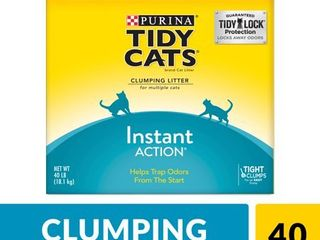 GOlDEN CAT COMPANY 702044 Tidy Cats Multiple Cat Immediate Odor Control Scoop Box  40 Pound