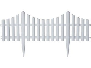 Picket Fence Style Decorative Fencing   White Border Edging   13 x24  sections   16  of Garden Edging