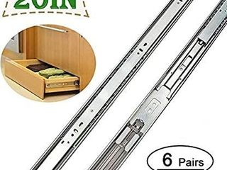 Pairs 20in Drawer Slides Soft   Close Dresser Drawer Slides   lONTAN Sl4502S3 20 Ball Bearing and Full Extension Heavy Duty Drawer Slides 100lb Capacity