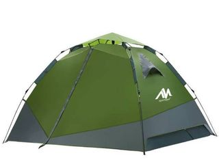 AYAMAYA Camping Tents 4 Person With Vestibule   Automatic Setup