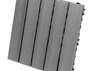 Eon 12 x12  Deck And Balcony Tiles Pack Of 10  Grey   10 Sq ft pack  limited