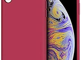 Anuck iPhone XR Case  Anti Slip liquid Silicone Gel Rubber Bumper Case with Soft Microfiber lining Cushion Slim Hard Shell Shockproof Protective Case Cover for Apple iPhone XR 2018   Rose Red