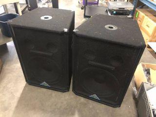 Pair of Grund Audio Design ST Series Sound Reinforcement Speakers Model ST-15S
