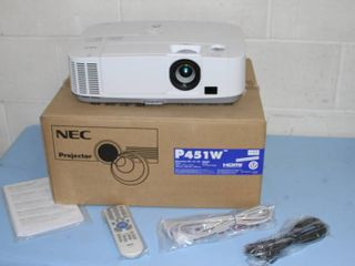 NEC P451W 4500 Lumen HD Widescreen 6000 Hour Lamp Life Projector / Projection System