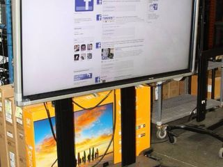 """Sharp PN-L702B 70"""" Interactive Whiteboard / LED - LCD HD Display Monitor & Rolling Stand"""