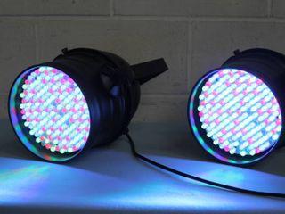 Pro Lighting - Pair of Par64 Par 64 7 Channel DMX Control LED Stage / Studio / Show / Event Lights