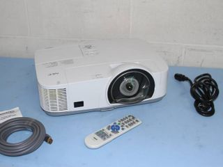 NEC Short Throw Widescreen High Definition HD 3000 Lumen Projector System & Accessories