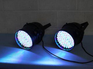Pro Lighting - Pair of Par64 Par 64 7 Channel DMX Control LED Stage / Studio / Show / Event Light