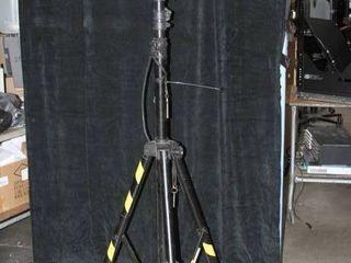 Telescoping / Portable Pro Audio - Heavy Duty Tripod with AC Power & Light / Lighting Boom