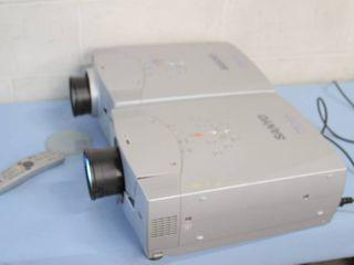 Lot of 2 Sanyo PLC-XP46 Computer/Video/Multimedia LCD Projectors & Remote Control - Parts / Repairable