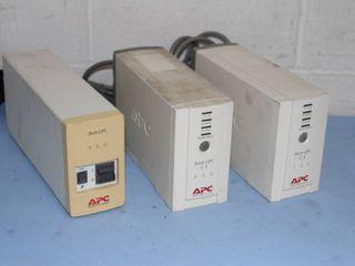 Lot of 3 APC Uninterruptible Power Supply Units AC Power Back-UPS
