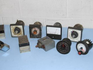 Miscellaneous Lot of Vintage Test Equipment - Dials Meters Controllers & More!
