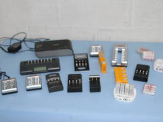 Lot of Miscellaneous 9V AA Battery Chargers and Accessories