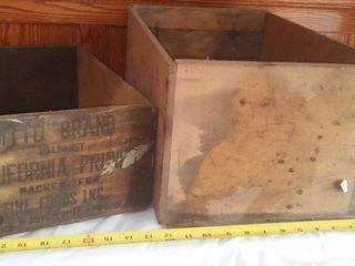 2 wood crates