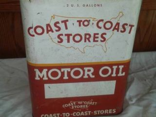 Coast to Coast Motor Oil Can 2 gallons.