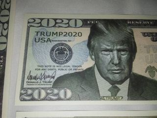 10 Donald Trump 2020 Dollar Bills