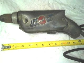 Vintage Speed Way electric drill – working